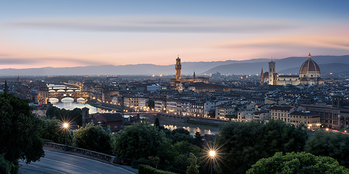 Blue Hour in Florence by Michael Woloszynowicz