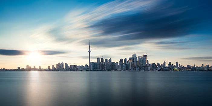 Toronto Skyline by Michael Woloszynowicz