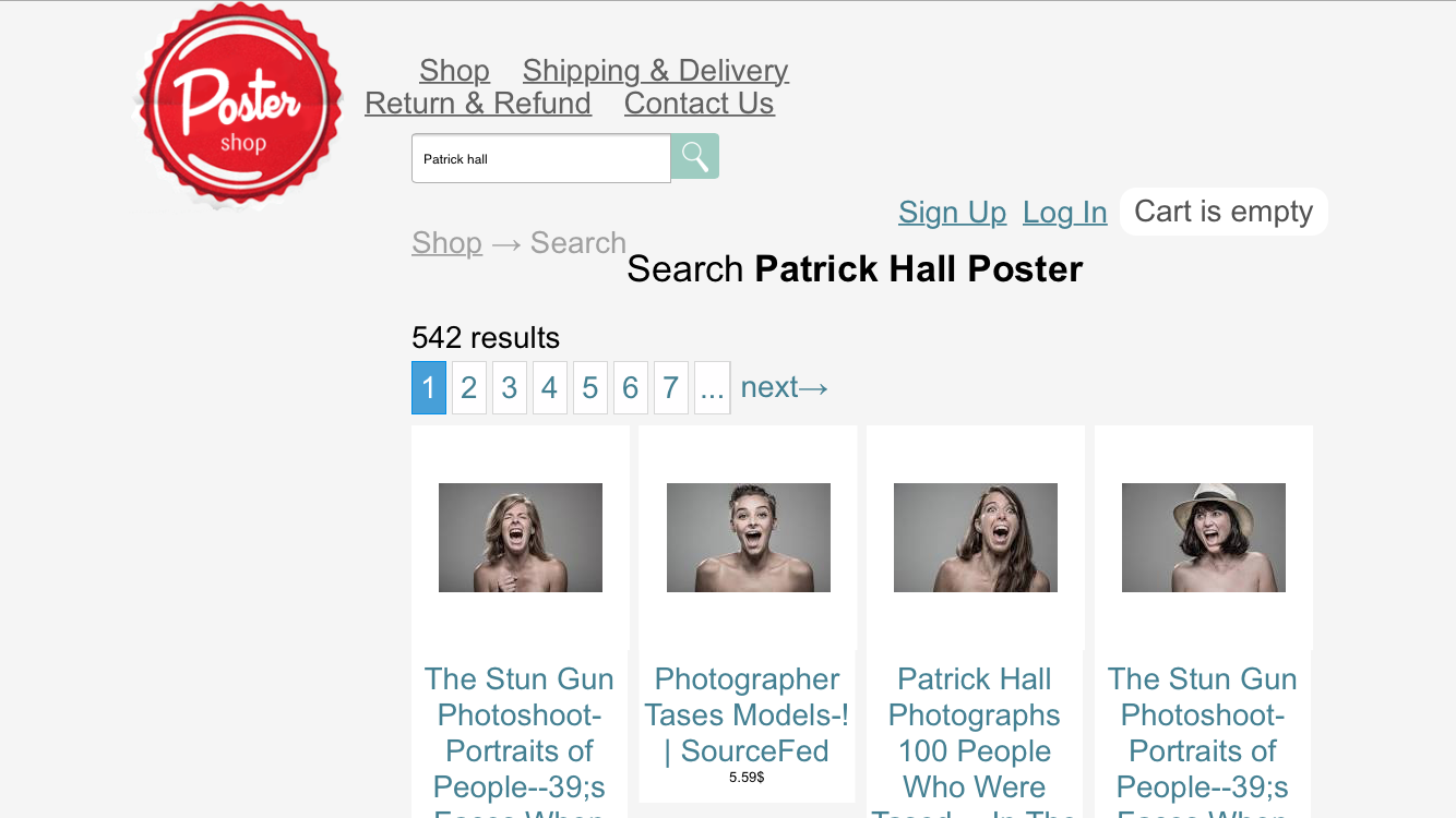 WallPart (The Poster Shop) sells stolen images online without the owner's consent