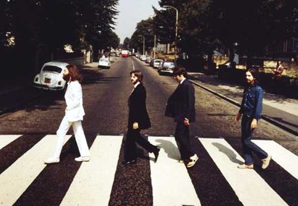 "[Picture] Making History: The Shot Before The Beatles ""Abbey Road"" Iconic Cover"