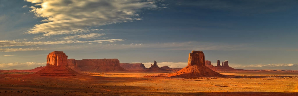 Breathtaking Panoramic Of Monument Valley