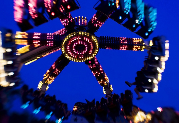 Amusement Park Ride Through The Eyes Of A Lensbaby