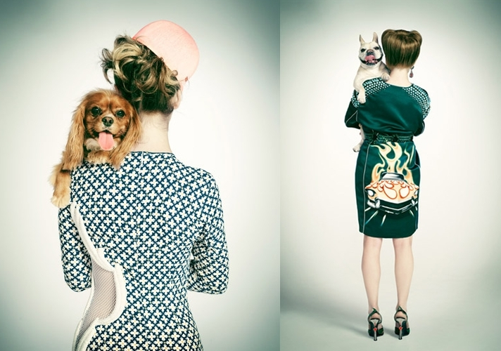 [Pics] A Fun Spring Fashion Shoot, Dogs Included