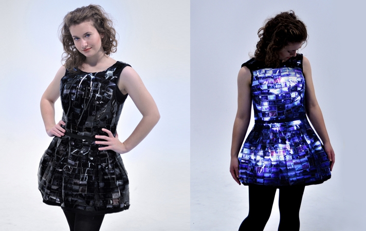 The Little Slide Dress: Emily Steel Creates An Illuminating Dress From Old Film