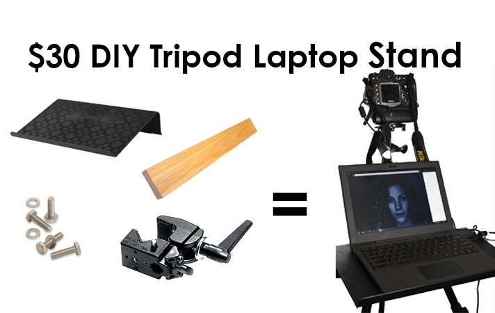 $30 DIY Tripod Laptop Stand