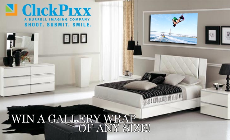 Win Any Size Gallery Wrap from ClickPixx