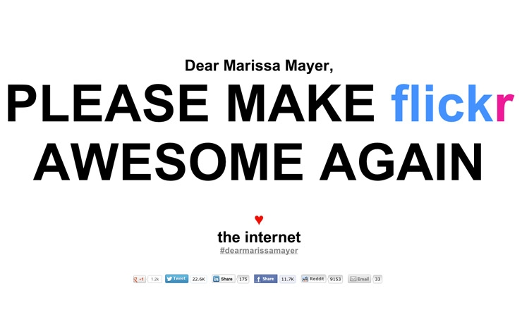 Internet Calls For Flickr To 'Be Awesome Again,' Flickr Responds In Kind