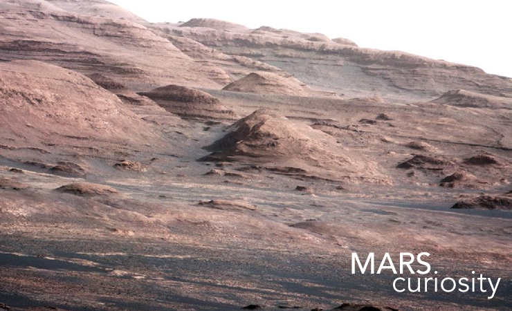 Curiosity Snaps a Gorgeous Photo of Martian Mountain Range