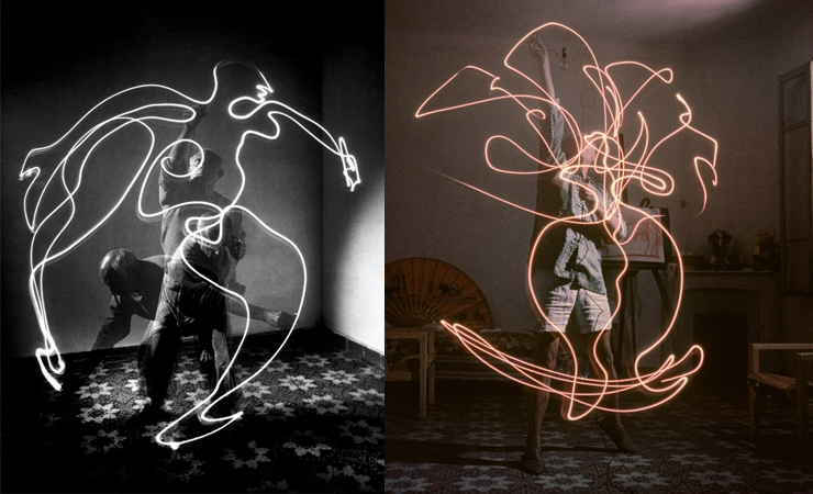 Ahead of His Time: Pablo Picasso Light Painting