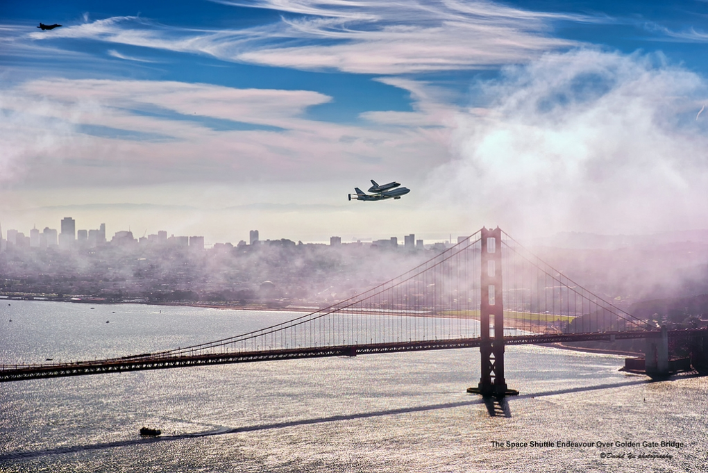 Endeavour Over The Golden Gate