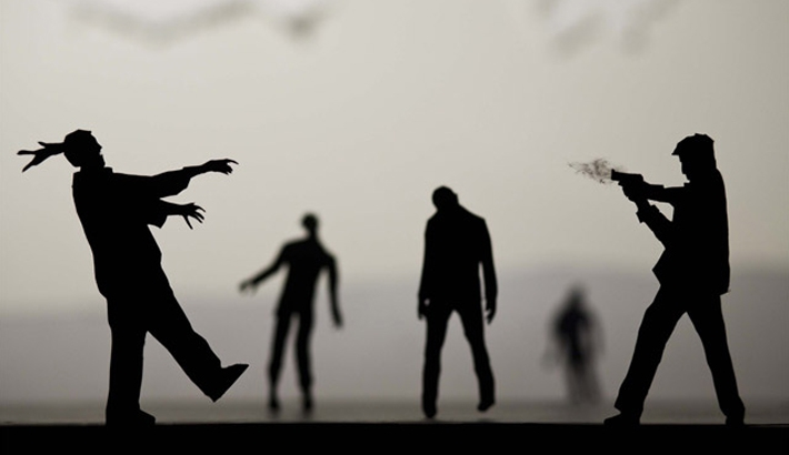 Homemade Paper-Cut Silhouettes Create Movie Like Scenes