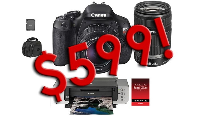 Yet Another Outrageous Deal: Rebel T3i Kit With Two Lenses, Printer, And More For $599