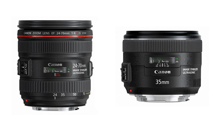 Canon Announces the New 24-70mm f/4 IS and 35mm f/2 IS Lenses