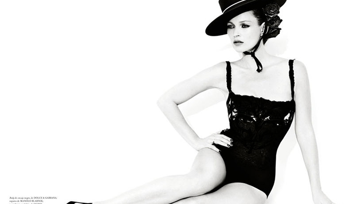 Mario Testino Shoots a Dramatic Kate Moss for Vogue Spain