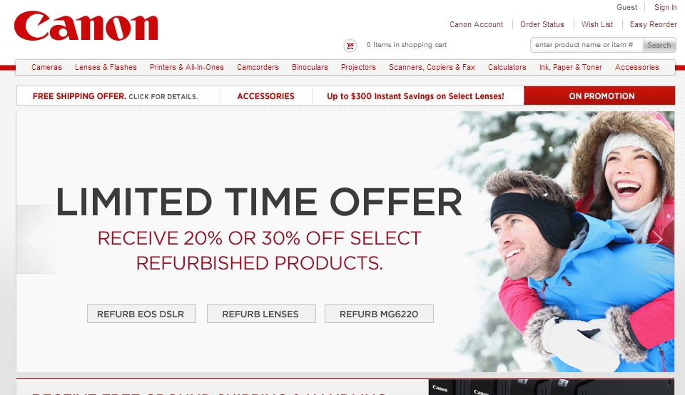Act Fast: Canon Offering 20-30% off Select Refurb Gear