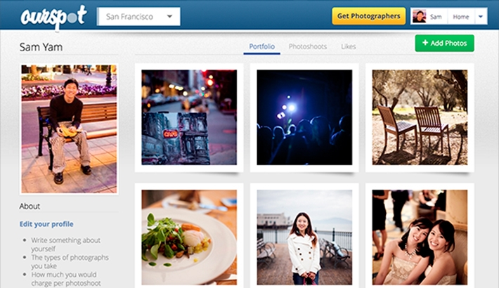 $10 Photoshoots? Ourspot: A Place to Hire Amateur Photographers