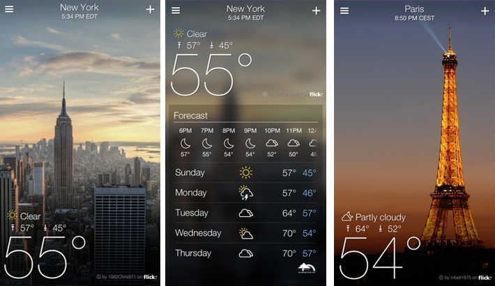 Yahoo's New Weather App is Beautiful Thanks to Flickr