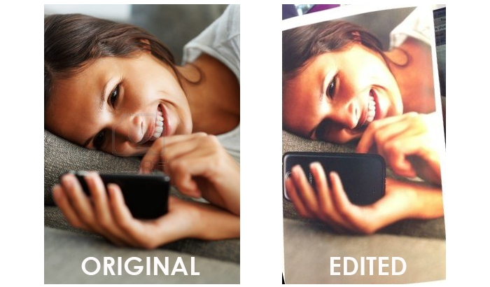"""Samsung """"Artfully"""" Photoshops Galaxy S4 in Place of iPhone in a Stock Image"""