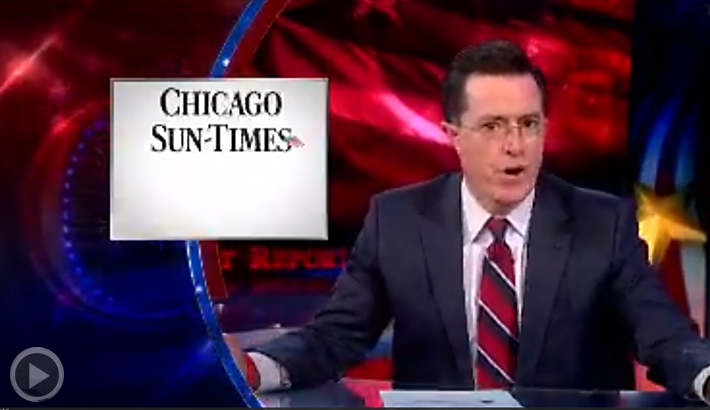The Colbert Report Takes On The Chicago Sun-Times Layoffs