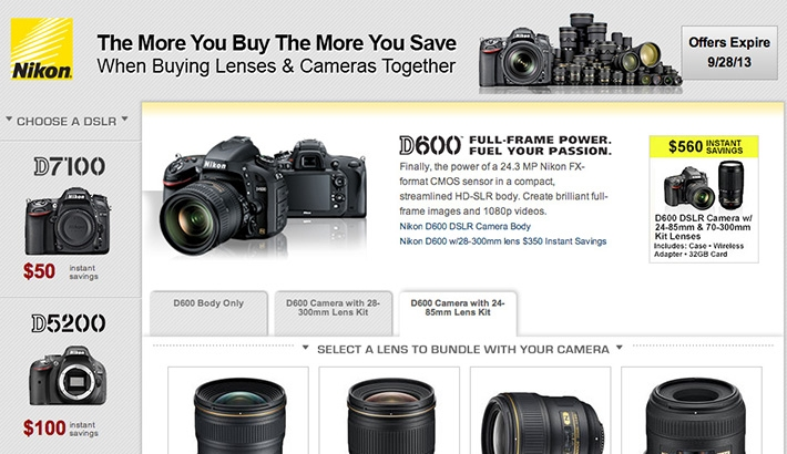 Nikon Announces New Rebates on Camera/Lens Bundles