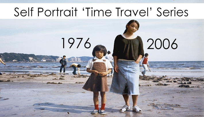"""Ingenious Camera Work Allows Photographer To """"Time Travel"""" In Self Portrait Series"""