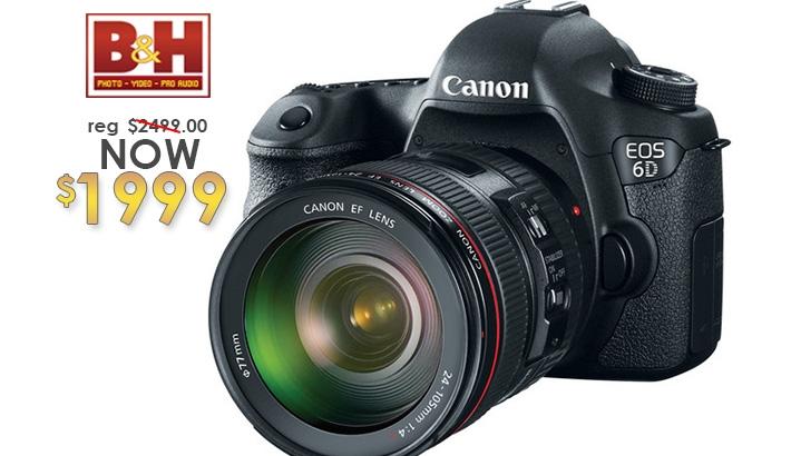 B&H Deal - Canon EOS 6D w/Canon 24-105mm f/4.0L IS for $1999