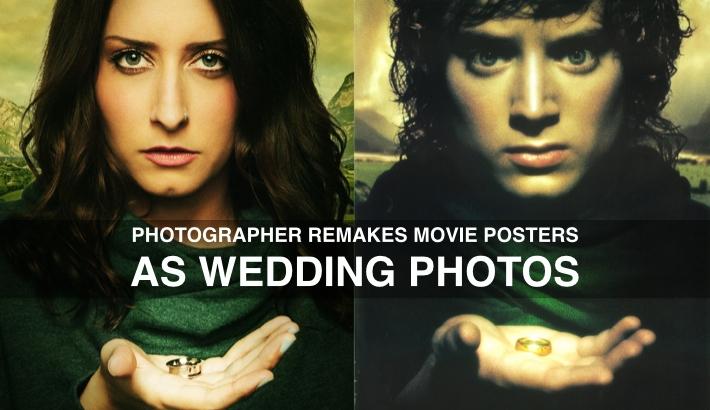 Photographer Remakes Movie Posters as Wedding Photos