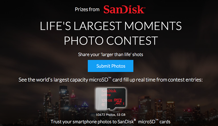 Weekly Contest: Win a SanDisk 128GB microSDXC Card with Adapter
