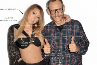 Terry Richardson's Before and After Photoshop Pictures of Mariah Carey Leaked