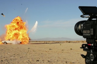 Tyler Shields Blows Up His Rolls Royce Silver Shadow... For Art