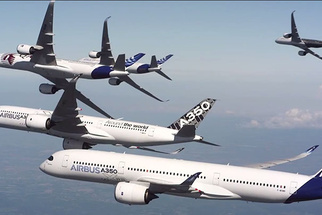 Airbus Puts Five Enormous A350 Passenger Jets In Formation For Epic Photoshoot