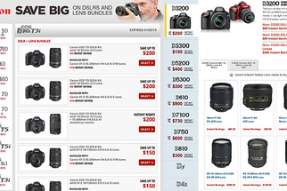 Huge Nikon and Canon DSLR and Lens Bundle Savings
