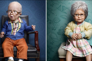 Hilarious Portrait Series Features Babies Dressed as Elderly People