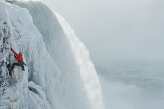 Incredible Imagery of a Climber Scaling Frozen Niagara Falls