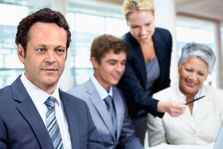 Vince Vaughn and Cast of 'Unfinished Business' Star in Hilarious Stock Photo Series
