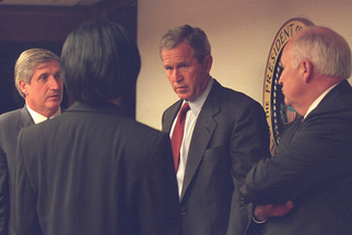 Newly Released Photos Show Reactions of President, Vice-President, to the 9/11 Attacks