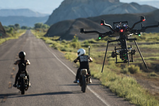 Camp 4 Tests the New ALTA Drone from Freefly by Chasing Motorcycles in the Desert