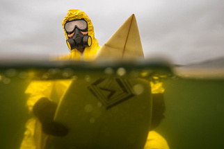 HAZMAT Surfing Photos Raise Awareness of Contaminated Oceans