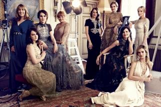 Harper's Bazaar Shoots Ladies of Downton Abbey