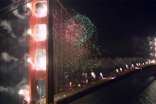 Timelapse Of Golden Gate Bridge's 75th Anniversary Fireworks Show