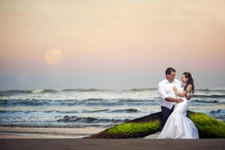 Trash the Dress Pictures with the Super Moon