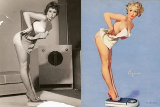 1950's Photoshop: Pin-Up Girls Before And After