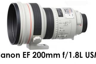 Canon EF 200mm f/1.8L USM