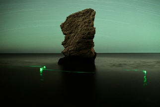 Unique Landscape Images Lightpainted By Natural Forces