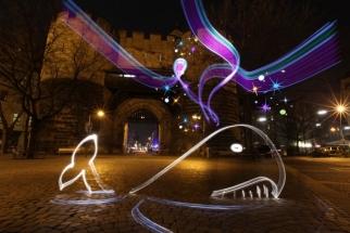 Surrealistic Light Painting Video Animation