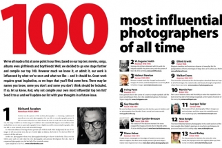 Professional Photographer Magazine's 100 Most Influential Photographers of All Time