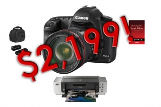 Smoking Hot Deal On 5d Mark II Kit With 24-105 and Printer At B&H: Only $2199!