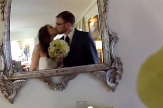 Couple Uses a GoPro In Bride's Bouquet