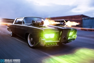 Photographing The Green Hornet Movie Car Using An Automotive Rig