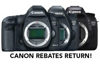 Canon Rebates Return: Deals on 5D, 6D and 7D